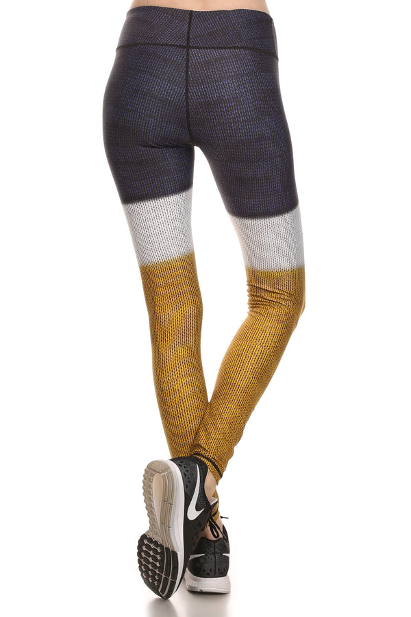 Color Block Dream Leggings - Mustard Yellow - POPRAGEOUS  - 3