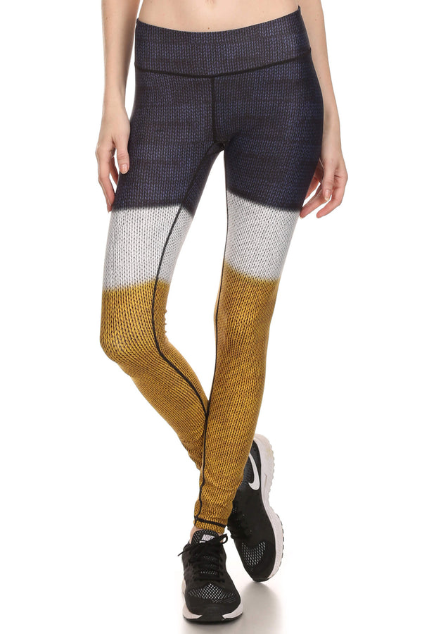 Color Block Dream Leggings - Mustard Yellow - POPRAGEOUS  - 1