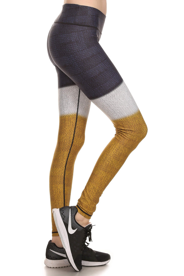 Color Block Dream Leggings - Mustard Yellow - POPRAGEOUS  - 2