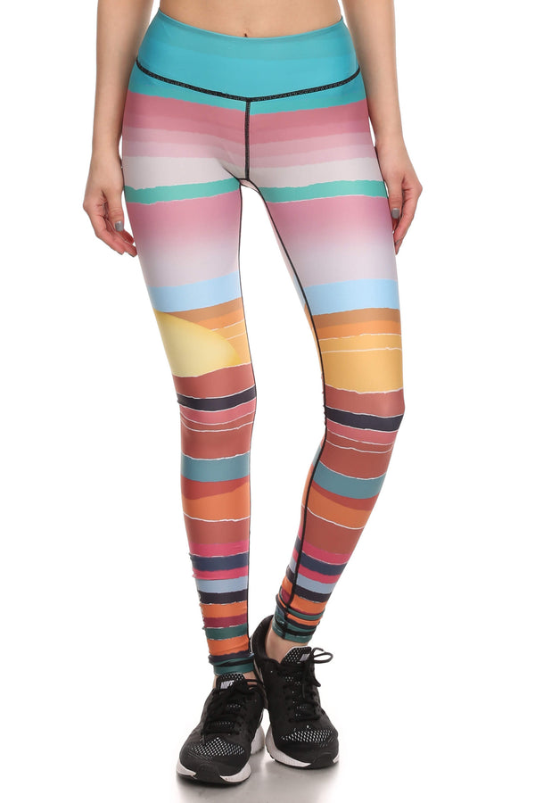 Minimalist Sunset Dream Leggings - POPRAGEOUS  - 1
