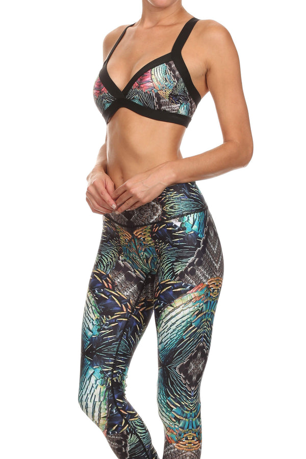 Turkey Feathers Jasmine Sports Bralette - POPRAGEOUS  - 2