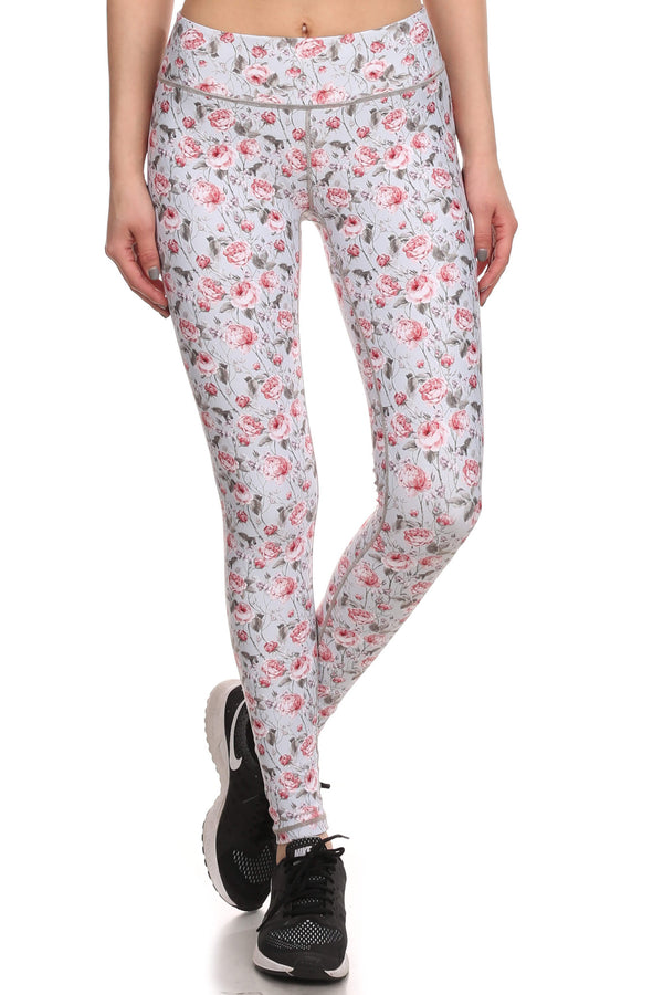 Vintage Floral Dream Leggings - Grey - POPRAGEOUS  - 1