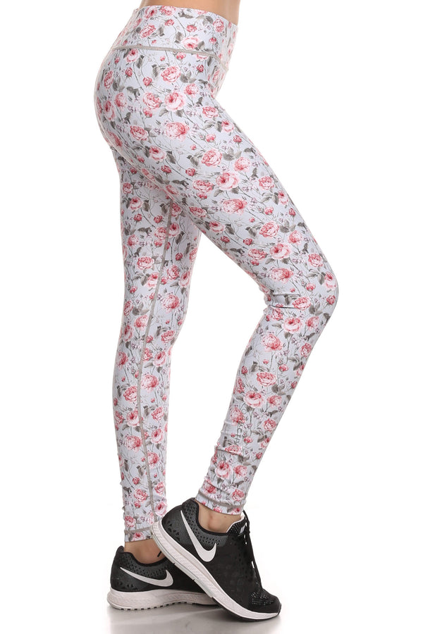 Vintage Floral Dream Leggings - Grey - POPRAGEOUS  - 3