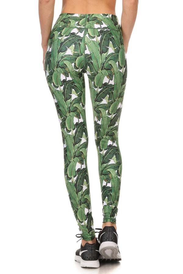 Banana Leaf Dream Leggings - POPRAGEOUS  - 3