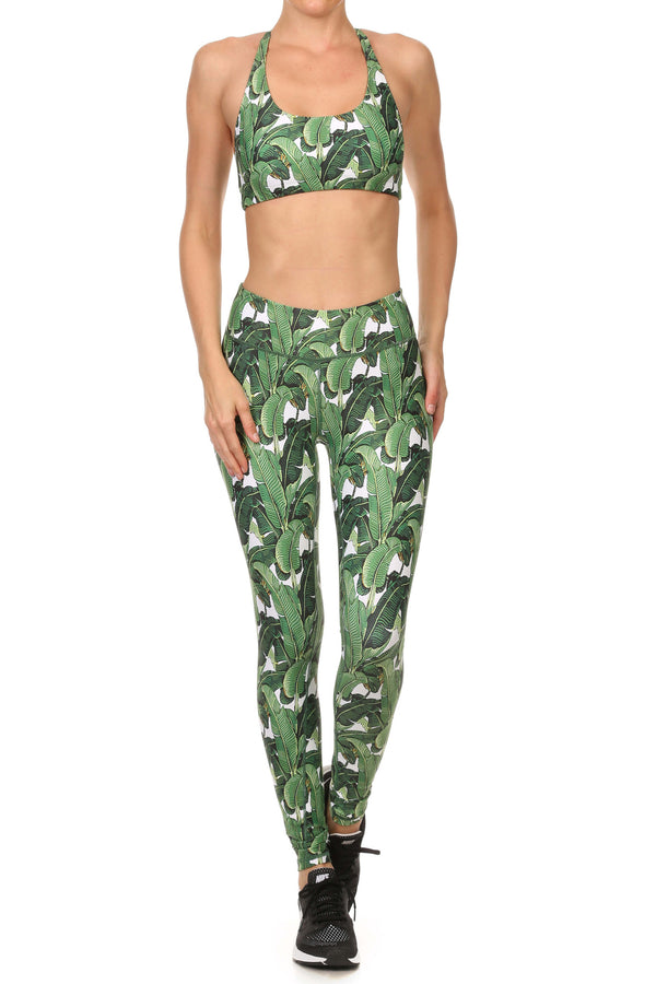 Banana Leaf Dream Leggings - POPRAGEOUS  - 4