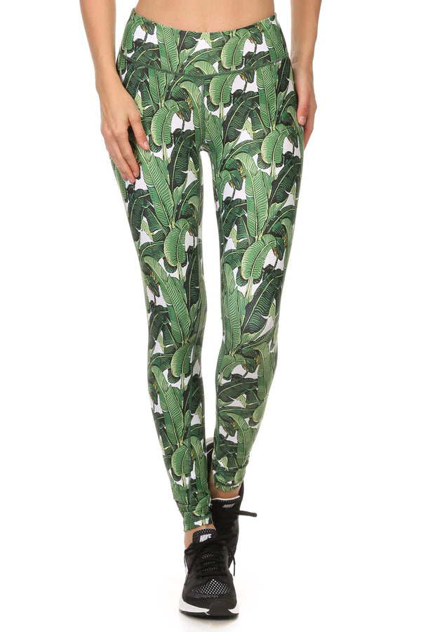 Banana Leaf Dream Leggings - POPRAGEOUS  - 1