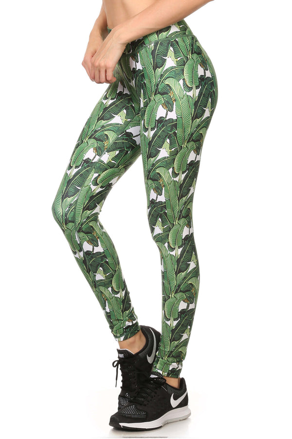 Banana Leaf Dream Leggings - POPRAGEOUS  - 2