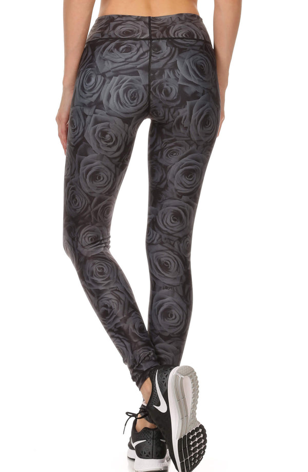 Black Rose Dream Leggings - POPRAGEOUS  - 3