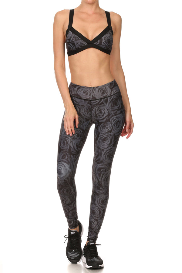 Black Rose Dream Leggings - POPRAGEOUS  - 4