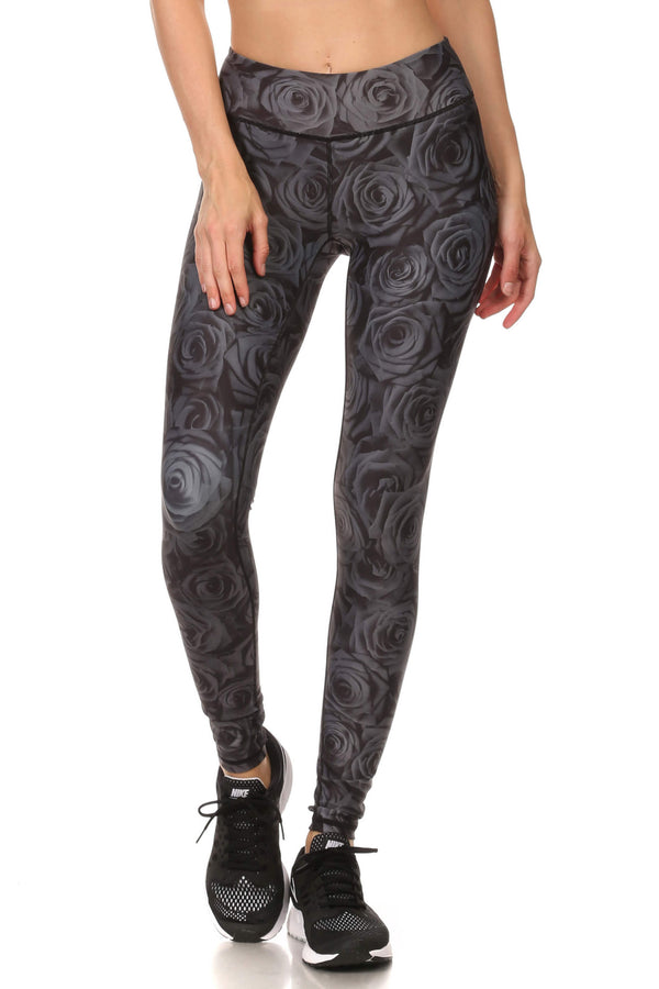 Black Rose Dream Leggings - POPRAGEOUS  - 1
