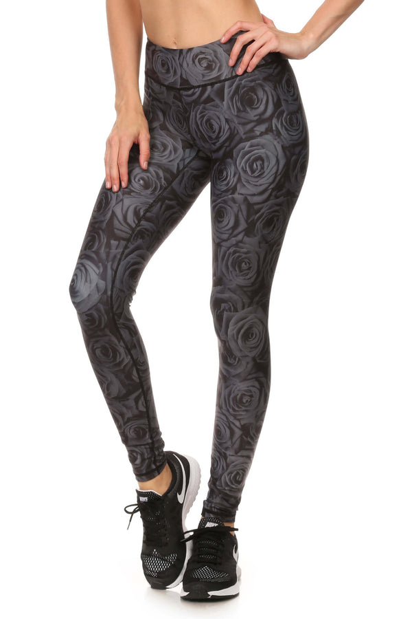 Black Rose Dream Leggings - POPRAGEOUS  - 2