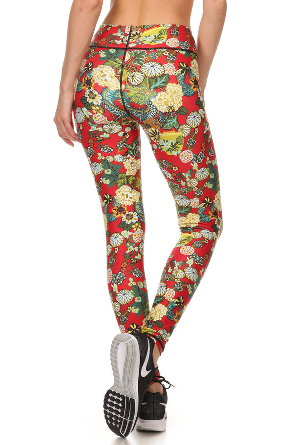 Hidden Dragon Dream Leggings - Vermillion - POPRAGEOUS  - 3