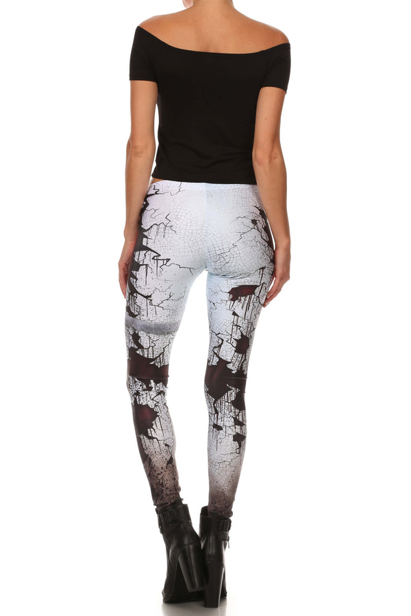 Cracked Creepy Doll Leggings - POPRAGEOUS  - 4