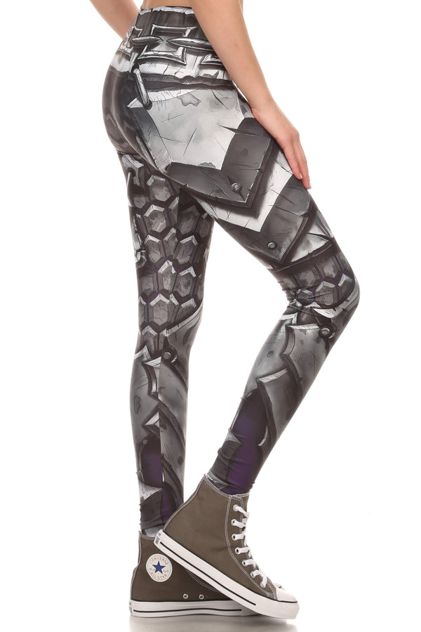Comic Armor Leggings - POPRAGEOUS  - 2