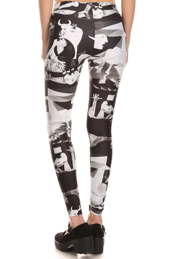 Art of War Leggings - POPRAGEOUS  - 3