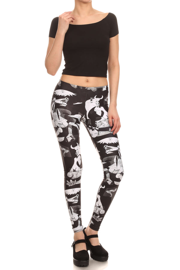 Art of War Leggings - POPRAGEOUS  - 4
