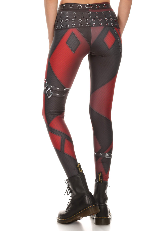 Insane Harlequin Leggings - LIMITED - POPRAGEOUS  - 3