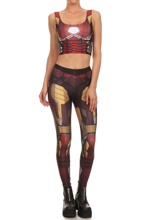 Red Robobabe Leggings - POPRAGEOUS  - 1