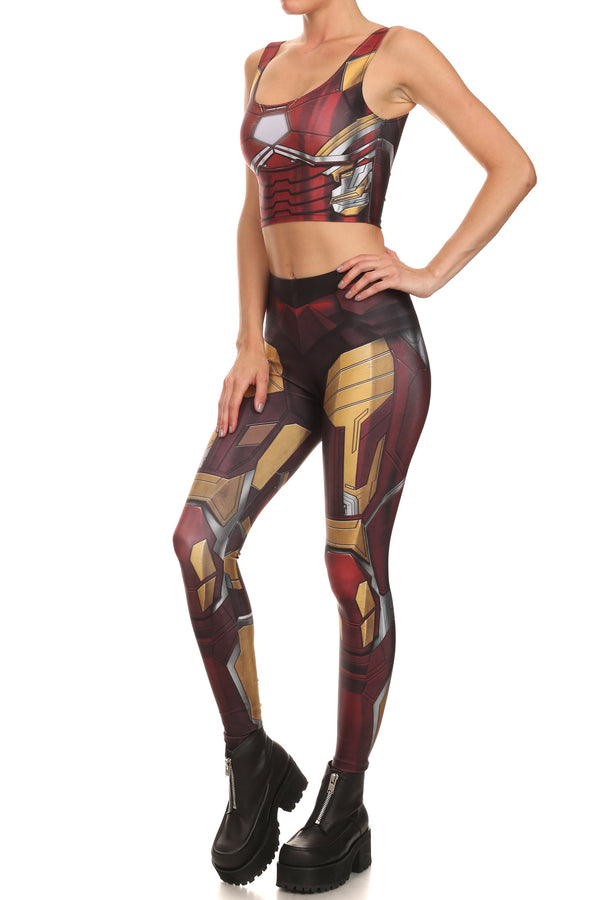 Red Robobabe Leggings - POPRAGEOUS  - 2