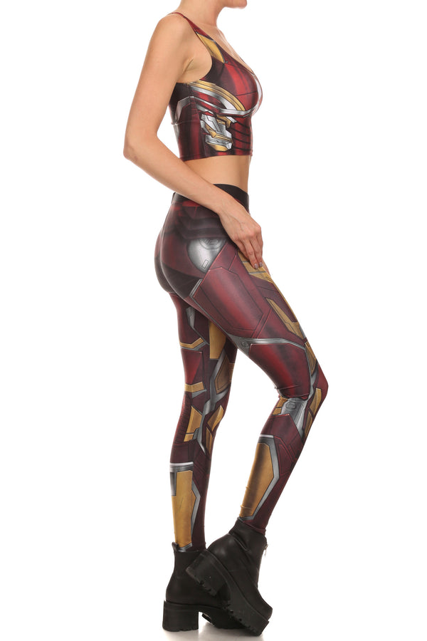 Red Robobabe Leggings - POPRAGEOUS  - 3