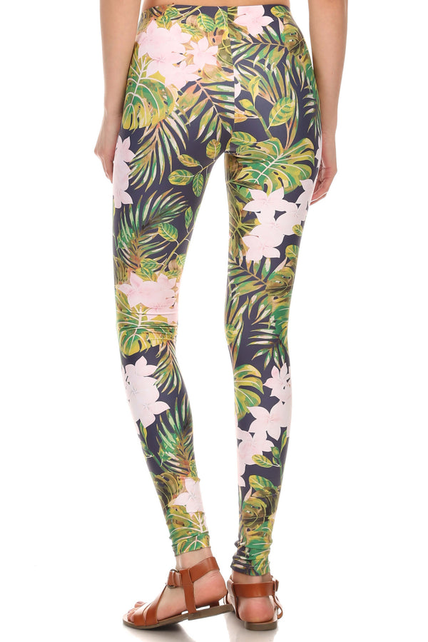 Navy Hawaiian Punch Leggings - POPRAGEOUS  - 4