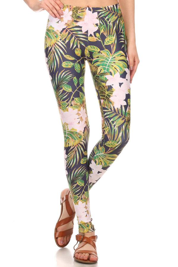 Navy Hawaiian Punch Leggings - POPRAGEOUS  - 1