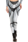 Robotic Leggings - Chrome - LIMITED - POPRAGEOUS  - 1