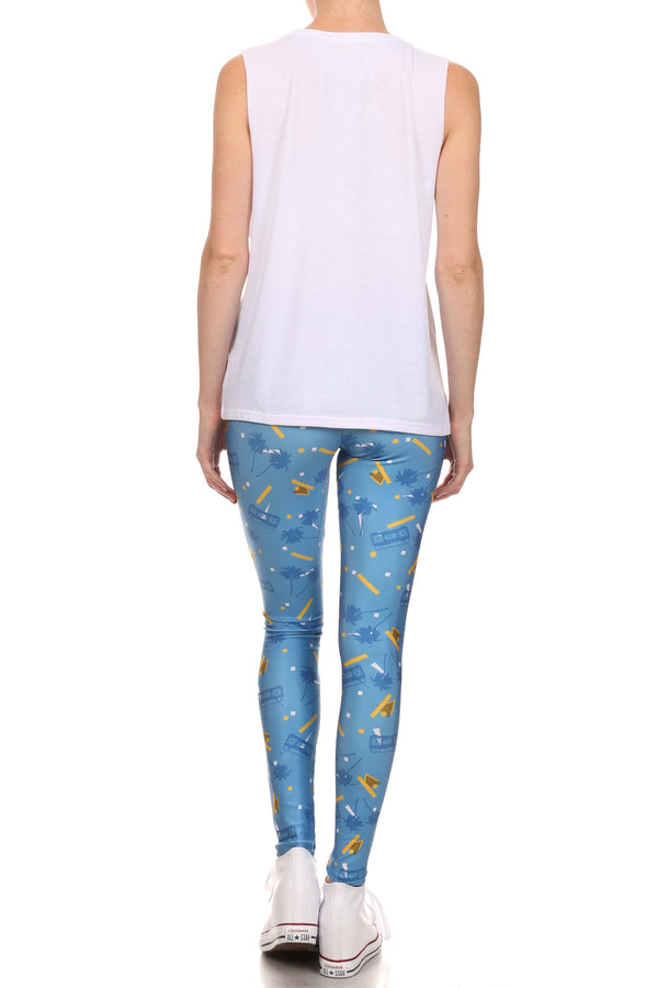 Socality Leggings - Blue & Yellow - POPRAGEOUS  - 4