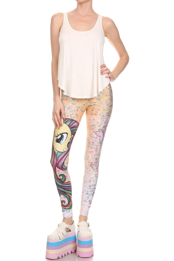 My Little Pony: Fluttershy Leggings - POPRAGEOUS  - 4