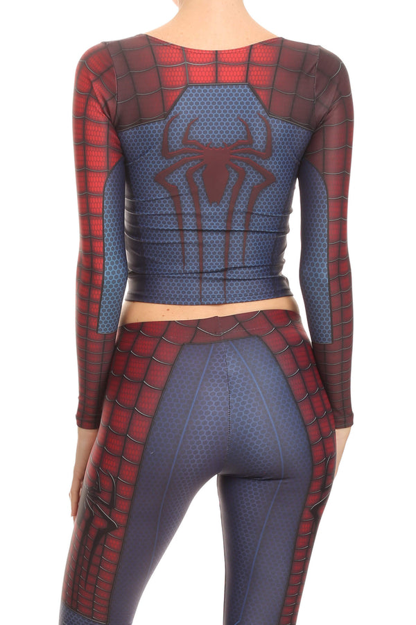 Web Master Long Sleeve Crop Top - POPRAGEOUS  - 3