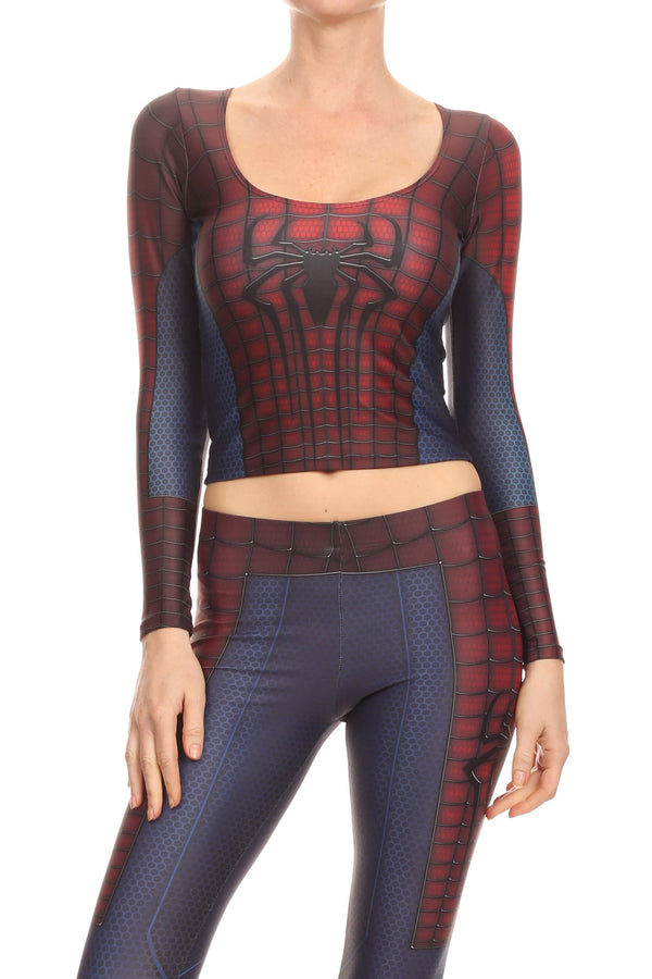 Web Master Long Sleeve Crop Top - POPRAGEOUS  - 1