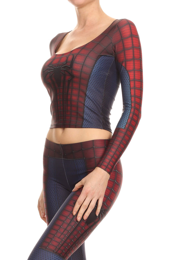 Web Master Long Sleeve Crop Top - POPRAGEOUS  - 2