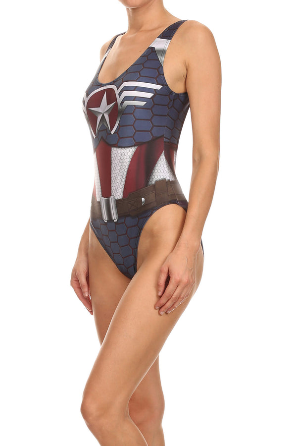 Murica Low Back Onesie Swim - POPRAGEOUS  - 2