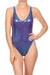Molten Aqua & Purple Roxanne One Piece Swim