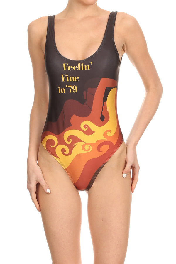 70's Feelin' Fine 'The Pam' Onesie Swim - POPRAGEOUS  - 1