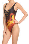 70's Feelin' Fine 'The Pam' Onesie Swim - POPRAGEOUS  - 2