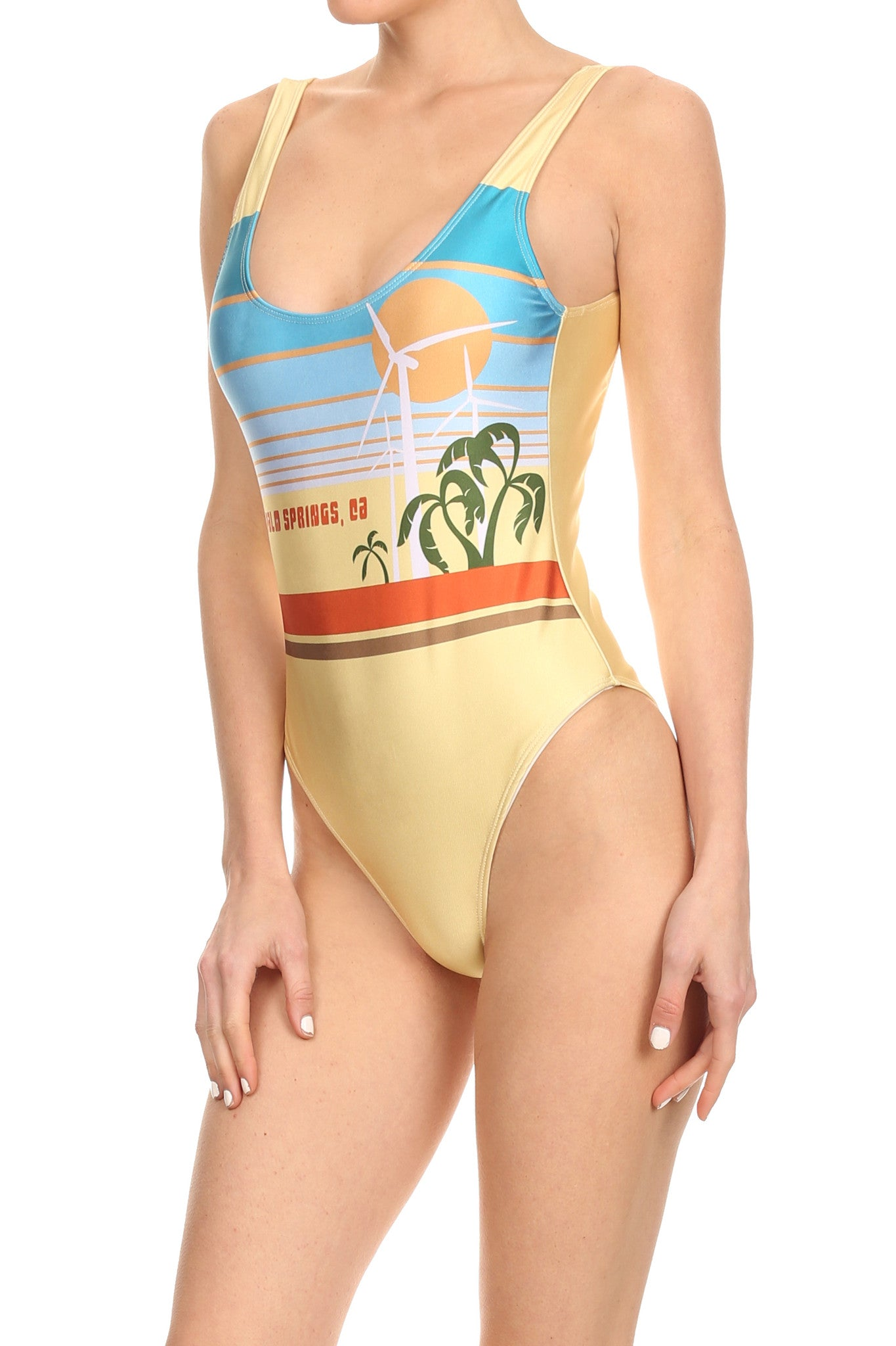 70's Palm Springs 'The Pam' Onesie Swim - POPRAGEOUS  - 2