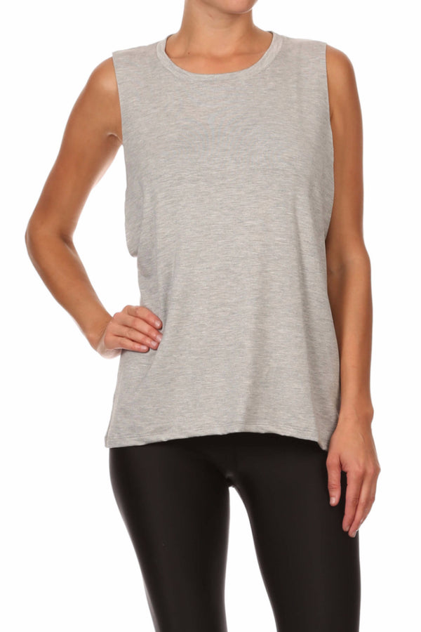 POPSOFT Muscle Tank - Grey - POPRAGEOUS  - 1