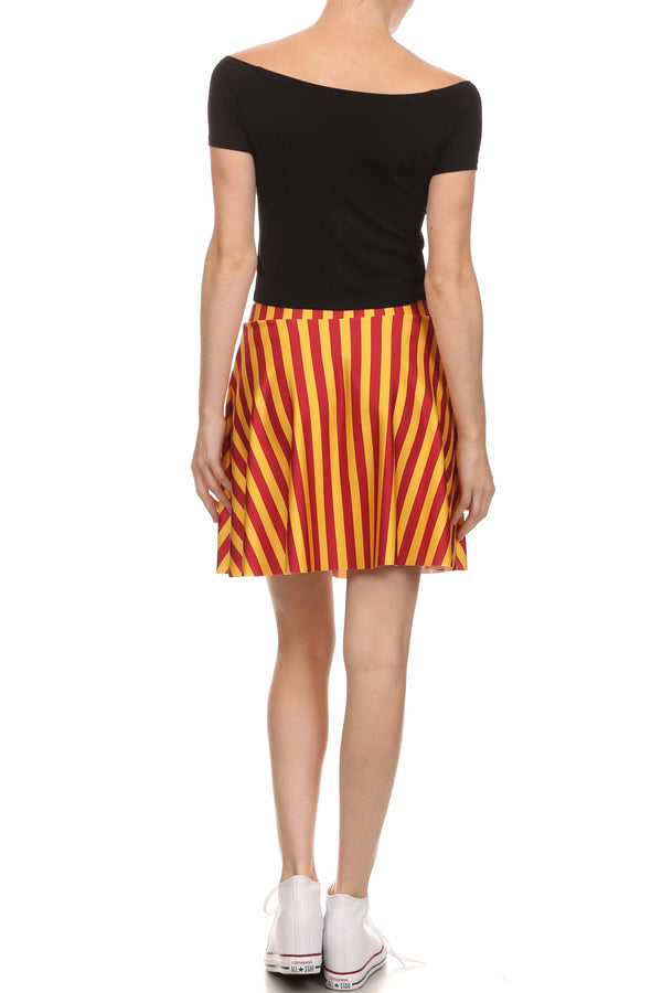 Game Day Classic Skater Skirt - Red & Gold - POPRAGEOUS  - 4