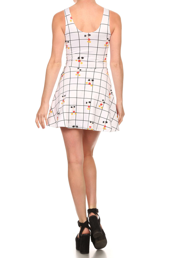 Mouse Splatter Skater Dress - POPRAGEOUS  - 4