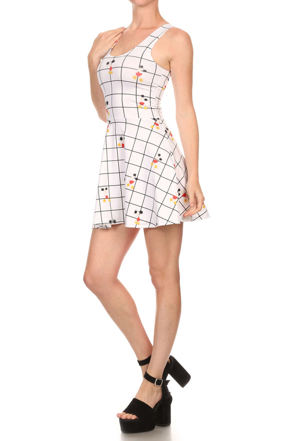 Mouse Splatter Skater Dress - POPRAGEOUS  - 2