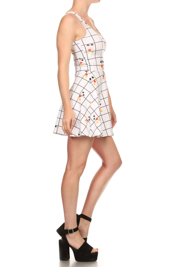 Mouse Splatter Skater Dress - POPRAGEOUS  - 3