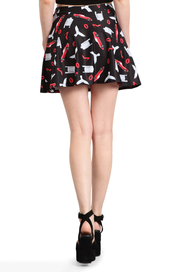 Little Red Corvette Skater Skirt - POPRAGEOUS  - 4
