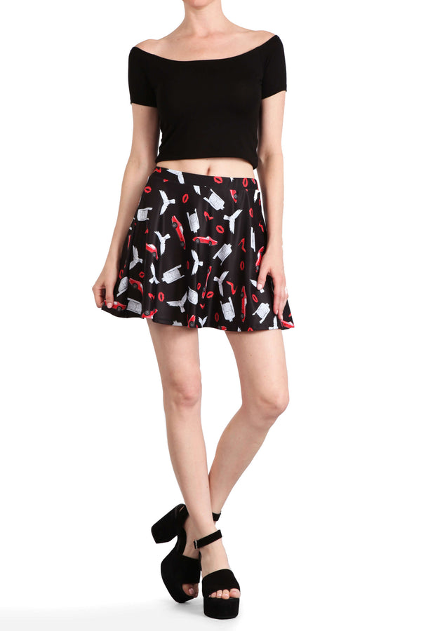 Little Red Corvette Skater Skirt - POPRAGEOUS  - 3