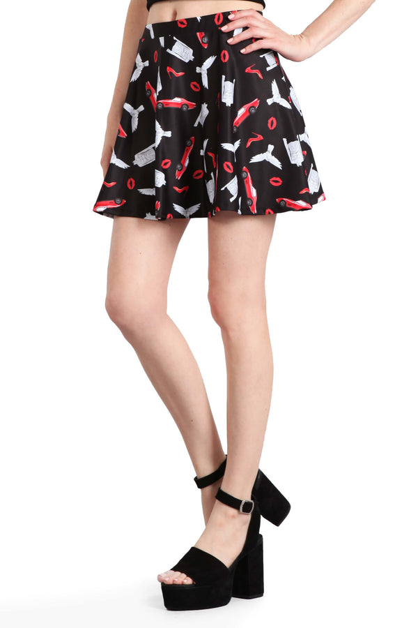 Little Red Corvette Skater Skirt - POPRAGEOUS  - 2