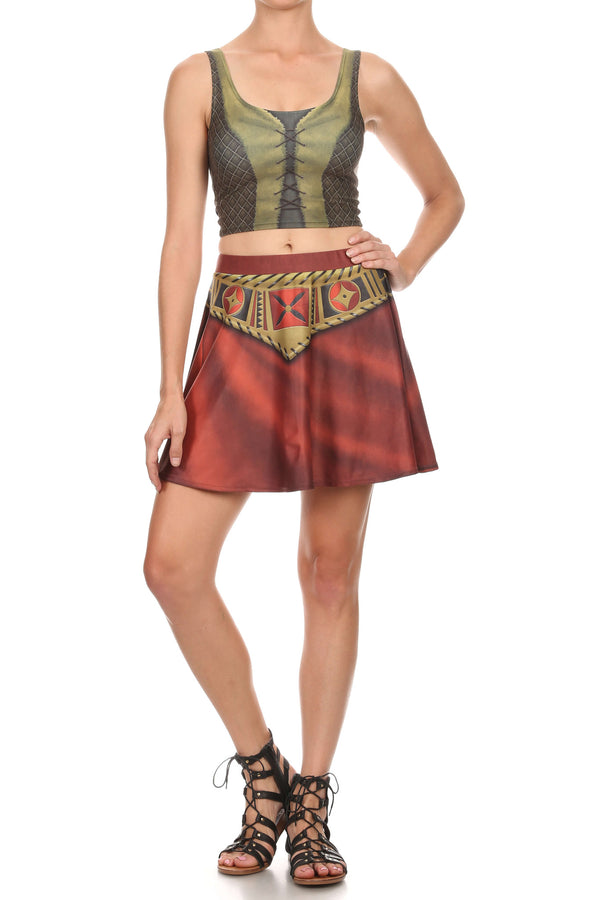 Sidekick Gabby Skirt Set - POPRAGEOUS  - 3