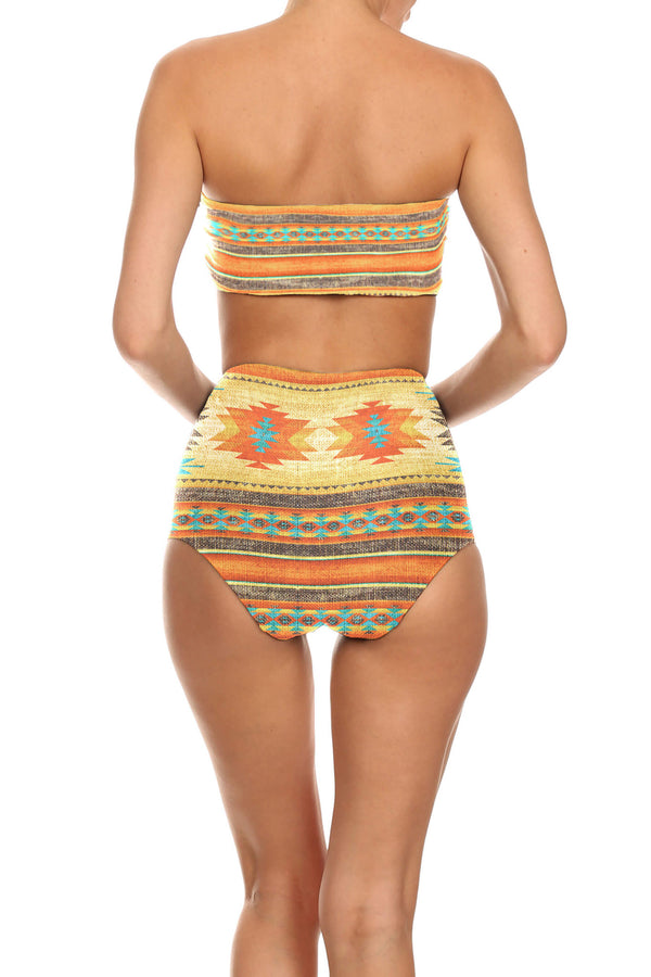 Southwestern Blanket Two Piece Swim - POPRAGEOUS  - 3
