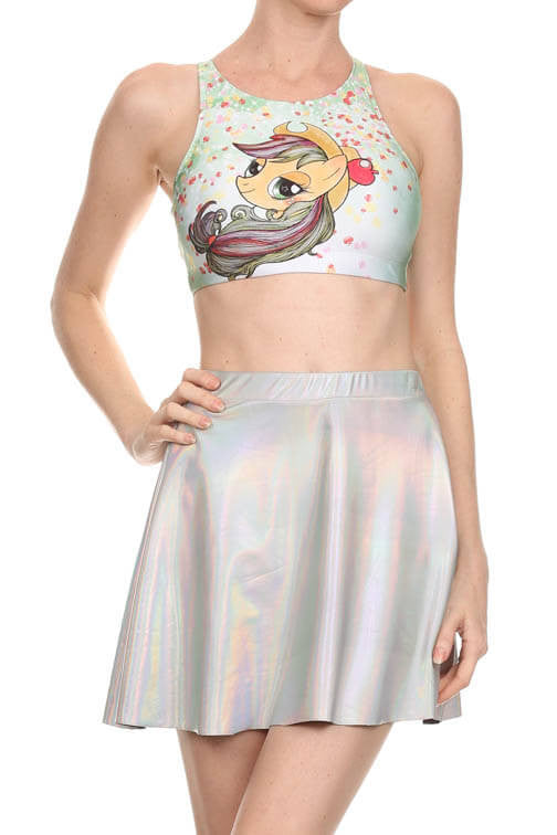 My Little Pony: Applejack Sporty Crop Top - POPRAGEOUS  - 1