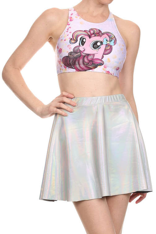 My Little Pony: Pinkie Pie Sporty Crop Top - POPRAGEOUS  - 1