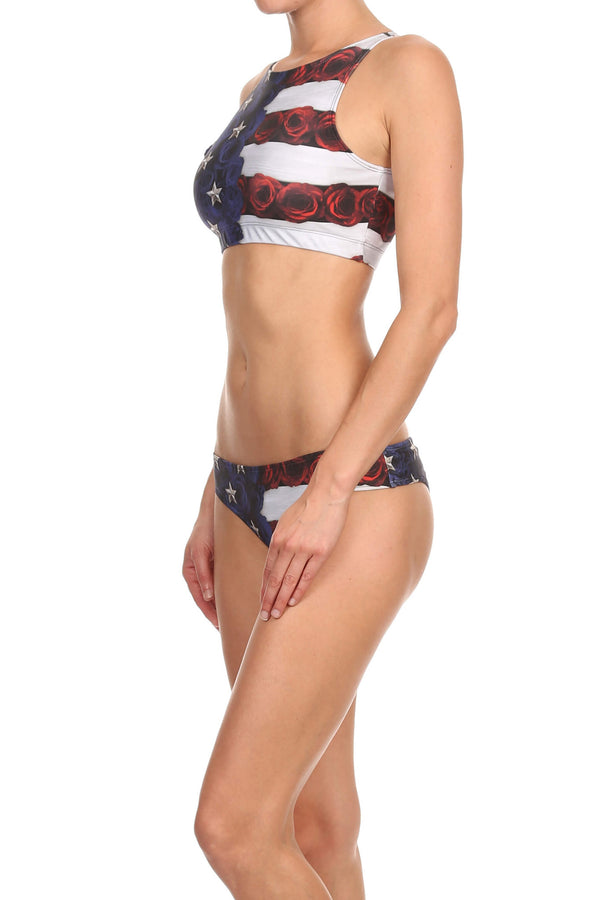 American Beauty Sporty Crop Top - POPRAGEOUS  - 3